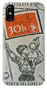 1957 Czechoslovakia Stamp IPhone Case