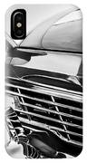 1957 Ford Fairlane Grille -107bw IPhone Case