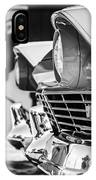 1957 Ford Fairlane Grille -205bw IPhone Case