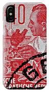 1957 German Democratic Republic Chemist Stamp IPhone Case