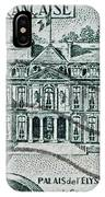 1957 Palais Del Elysee Paris Stamp IPhone Case