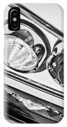 1958 Chevrolet Impala Taillight -0289bw IPhone Case