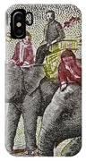 1958 Laos Elephant Stamp IIi IPhone Case