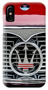 1958 Maserati Hood Emblem IPhone Case