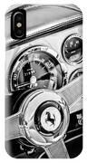 1960 Ferrari 250 Gt Cabriolet Pininfarina Series II Steering Wheel Emblem -1319bw IPhone Case