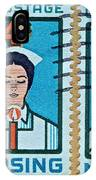 1962 Nursing Stamp Collage - Oakland Ca Postmark IPhone Case