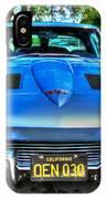 1963 Blue Corvette Stingray-front View IPhone Case