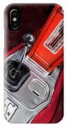 1963 Chevrolet Corvette Split Window Dash -155c IPhone Case