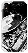 1963 Chevrolet Corvette Split Window Engine -147bw IPhone Case