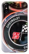 1963 Chevrolet Corvette Split Window Steering Wheel Emblem -170c IPhone Case