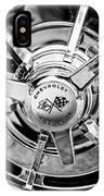 1963 Chevrolet Corvette Split Window Wheel Emblem -478bw IPhone Case