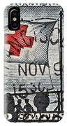 1963 Red Cross Stamp - San Francisco Postmark IPhone Case