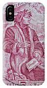1965 Dante Anniversary Stamp IPhone Case