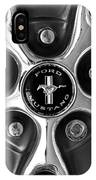 1965 Ford Mustang Gt Rim Black And White IPhone Case