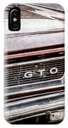 1965 Pontiac Gto Grille Emblem -0442ac IPhone Case