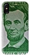 1965 Rwanda Abraham Lincoln Stamp IPhone Case