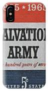 1965 Salvation Army Stamp IPhone Case