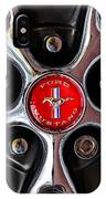 1966 Ford Mustang Gt Wheel Emblem IPhone Case