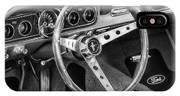 1966 Mustang Dashboard Bw IPhone Case