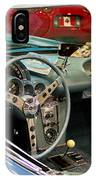 1967 Blue Corvette-interior And Wheel IPhone Case