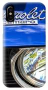 1967 Chevrolet Camaro Ss 350 Headlight - Hood Emblem  IPhone Case