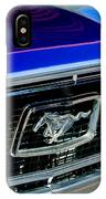 1968 Ford Mustang Cobra Gt 350 Grille Emblem IPhone Case