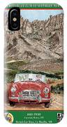 Mountain Rallying In A 1968 M G B  IPhone Case