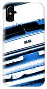 1969 Chevy Camaro Ss - Blue Negative IPhone Case