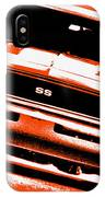 1969 Chevy Camaro Ss - Orange IPhone Case