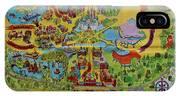 1971 Original Map Of The Magic Kingdom IPhone Case