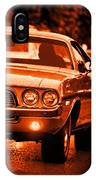 1972 Dodge Challenger In Orange IPhone Case