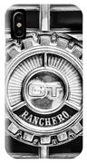 1973 Ford Ranchero Grille Emblem -0769bw IPhone Case