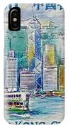 1999 Victoria Harbour Hong Kong Stamp IPhone Case