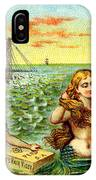19th C. Mermaids At Ship Wreck IPhone Case