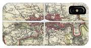 18th Century Map Of London IPhone Case