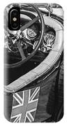 1931 Bentley 4.5 Liter Supercharged Le Mans Steering Wheel -1255bw IPhone Case