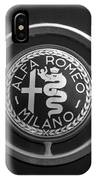 1961 Alfa Romeo Giulietta Sprint Veloce Series II Emblem -1045bw IPhone Case