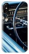 1965 Shelby Prototype Ford Mustang Steering Wheel Emblem IPhone Case by Jill Reger