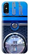 1970 Ford Mustang Gt Mach 1 Emblem IPhone Case