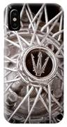 1972 Maserati Ghibli 4.9 Ss Spyder Wheel Emblem IPhone Case