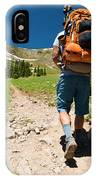 A Backpacker Hiking IPhone Case