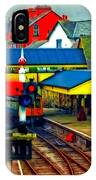 A Digitally Converted Painting Of Llangollen Railway Station North Wales Uk IPhone Case