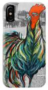 A Well Read Rooster IPhone Case