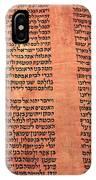 Ancient Torah Scrolls From Yemen  IPhone Case