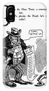 Anti-trust Cartoon, 1902 IPhone Case