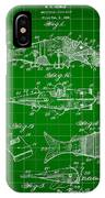 Artificial Bait Patent 1923 - Green IPhone Case