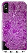 Athens Street Map - Athens Greece Road Map Art On Color IPhone Case