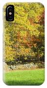 Autumn Hay Being Harvested In Maine IPhone Case