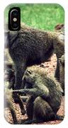 Baboons In African Bush IPhone Case