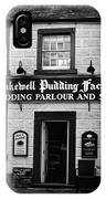 Bakewell  Pudding Factory In The Peak District - England IPhone Case